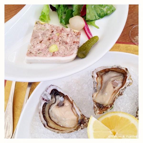 Huîtres et pâté - La Courtine