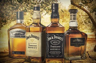 Les 4 whiskeys Jack Daniel's