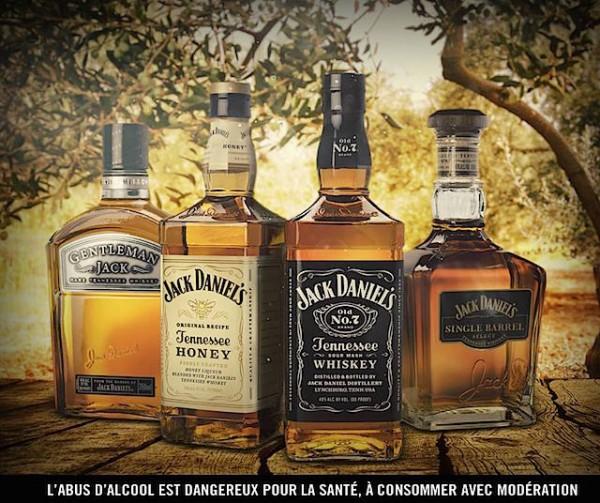 Les 4 whiskeys Jack Daniel's