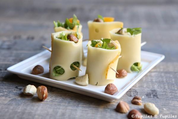 Makis de fromage à la roquette et fruits secs