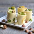 Makis de fromage à la roquette et aux fruits secs
