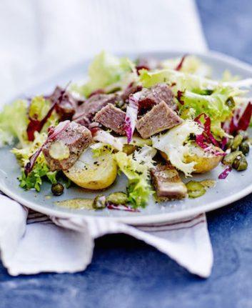 Langue de veau salade acidulée