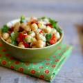 Salade de pois chiche, thon et poivrons