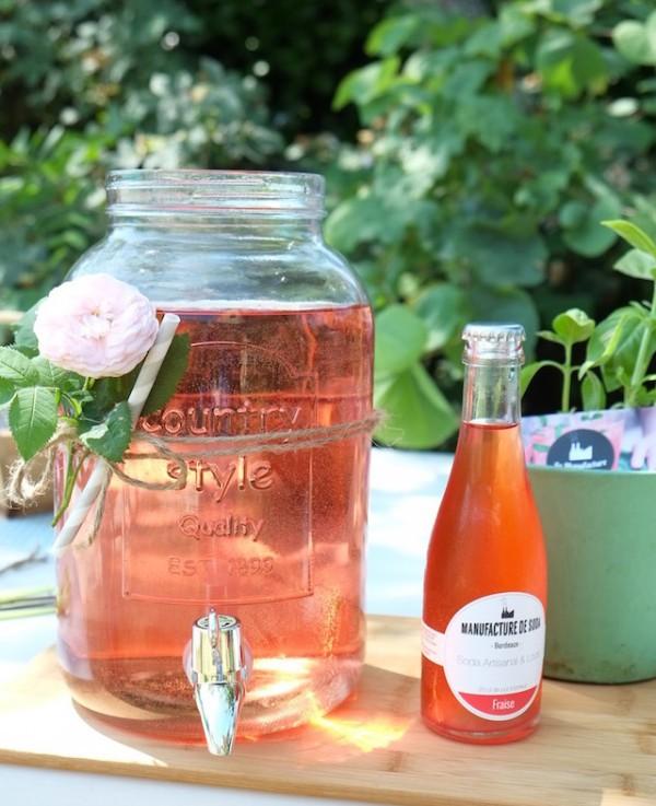 Soda à la fraise ©Manufacture de soda