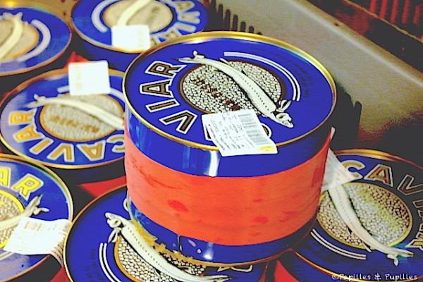 Boites pour affinage du caviar