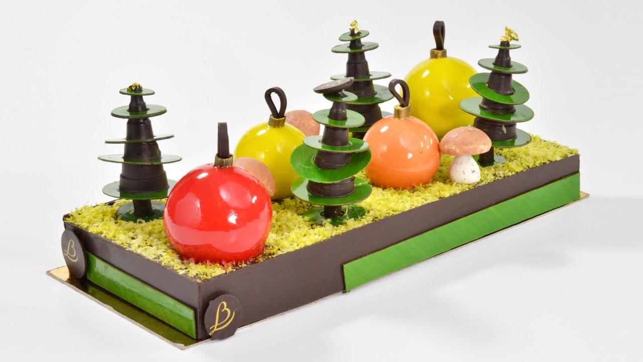 La Forêt du Morvan, la bûche de Noël du relais Bernard Loiseau 2015