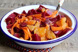 Salade de betterave oranges et carotte