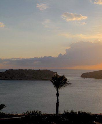 Coucher de soleil sur Spinalonga