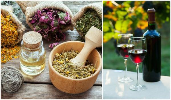 Tisanes (c) Chamille White et vin rouge (c) Sedlacek - Shutterstock