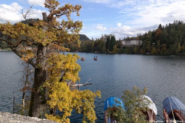 Vue sur le lac Bled