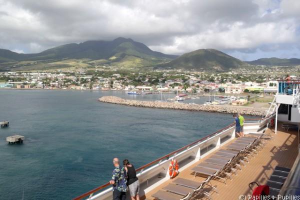 A bord du Costa Favolosa - Arrivée sur Saint Kitts