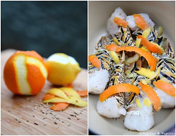 Ingrédients pour bouillon aromatique