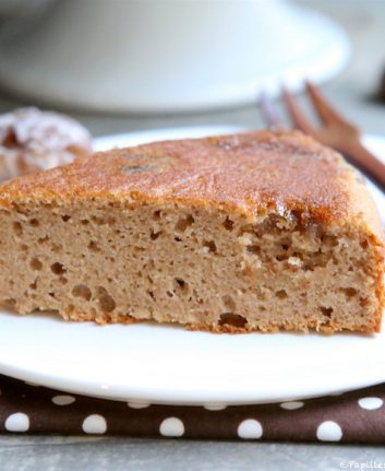 Part de gâteau à la crème de marrons
