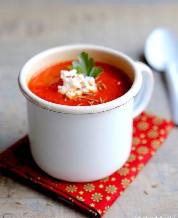 Velouté de poivrons tomates cumin