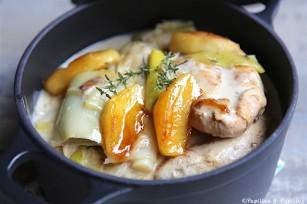 Blancs de poulet pommes et poireaux
