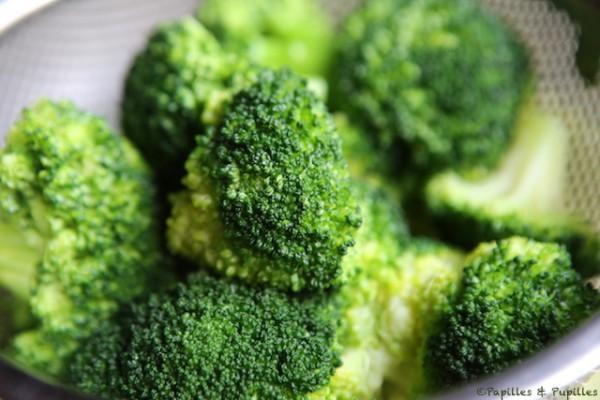 Brocolis après cuisson