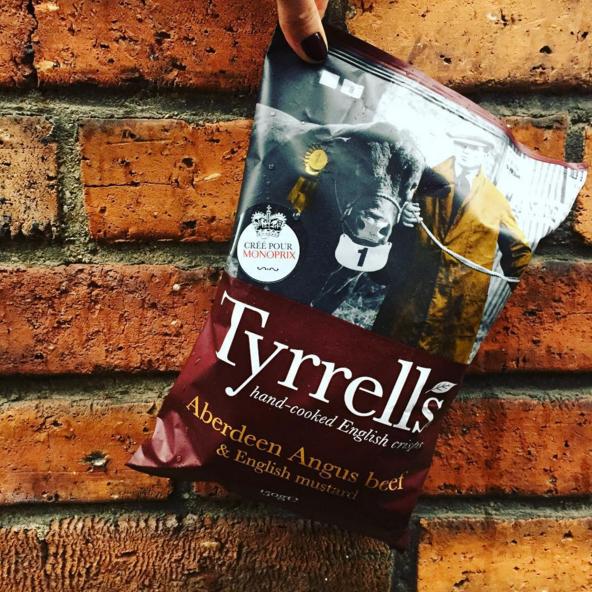 Chips Tyrrells Aberdeen Angus Beef & English Mustard