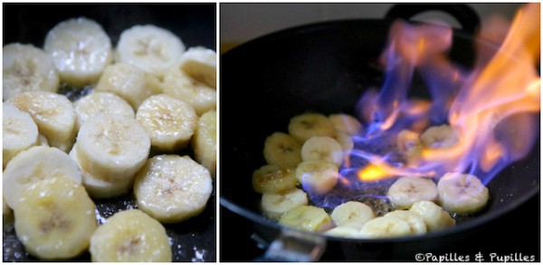 Dorez puis flambez les bananes
