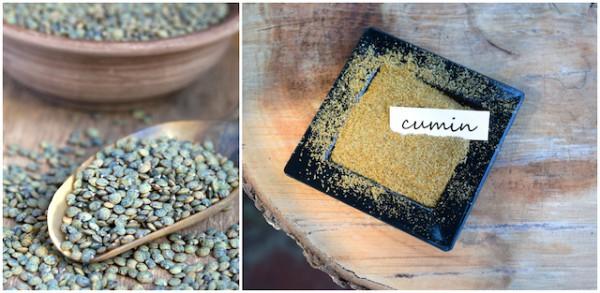 Lentilles et cumin ©Olga_Phoenix et ©Twinschoice - Shutterstock