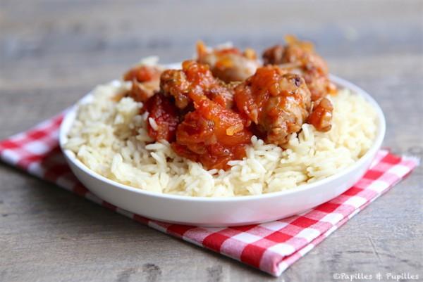 Rougail saucisse et riz