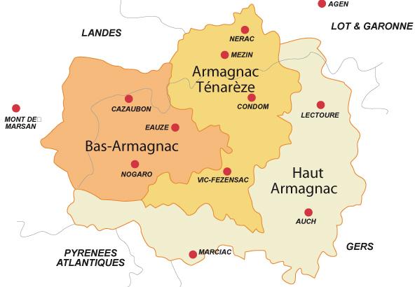 Carte - Armagnac