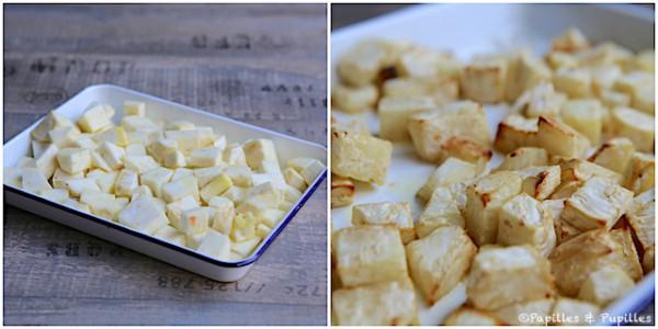 Céleri avant et après cuisson