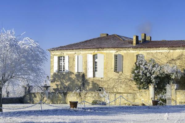 Château Monluc sous la neige