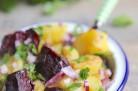Salade de pommes de terre et betteraves au cumin