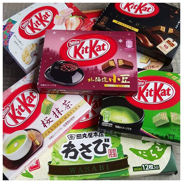 La folie kit kat au Japon !  A votre avis quels sont les parfums ?