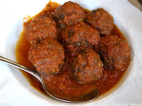 Boulette sauce tomate et cannelle