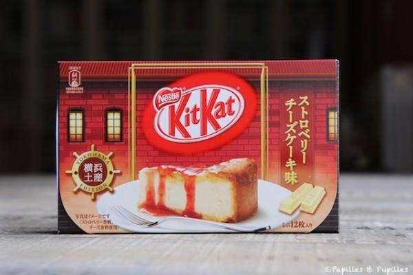 KitKat cheesecake à la fraise