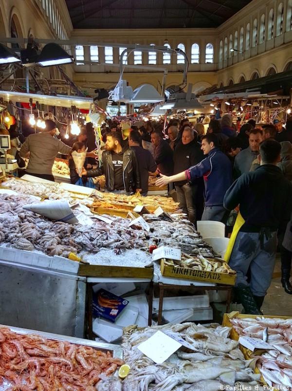 Marché aux poissons - Athènes