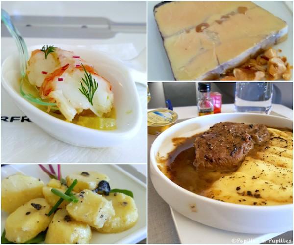 Quelques plats du repas à bord de François Adamski