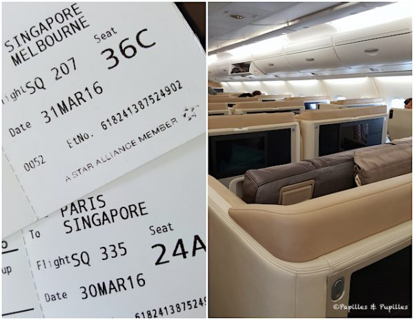Business Class - Singapour Airlines