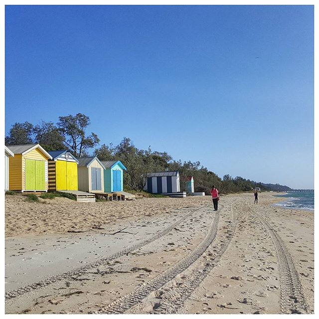 Cabanes de plage, Mornington Peninsula, Australie