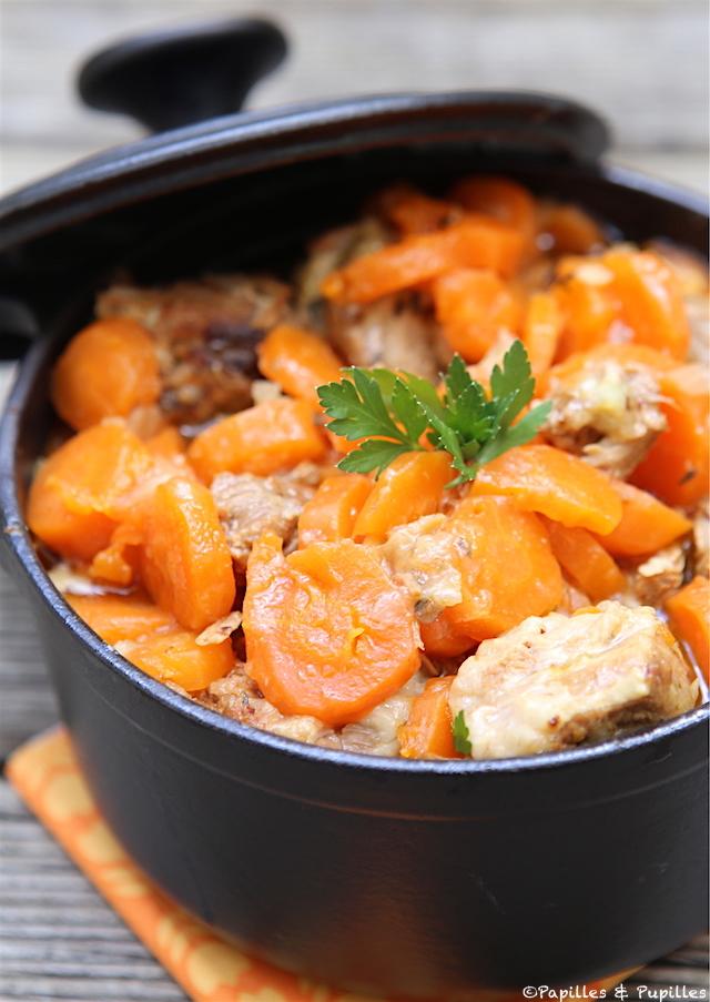Sauté de veau aux carottes, au miel et au citron confit