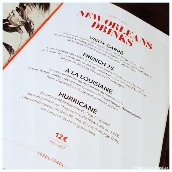 Carte de cocktails - Le point rouge