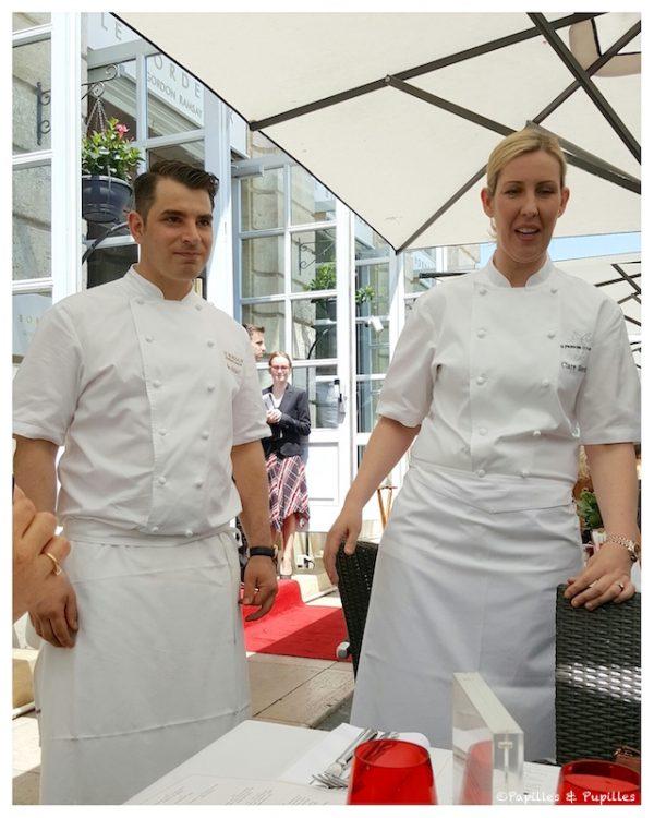Alex Thiebaut et Clare Smyth