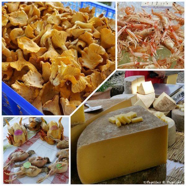 Girolles de chez Noël Benharoun, Langoustines de la Cotinière, Volailles de chez Duplantier et fromages de chez Guttierrez