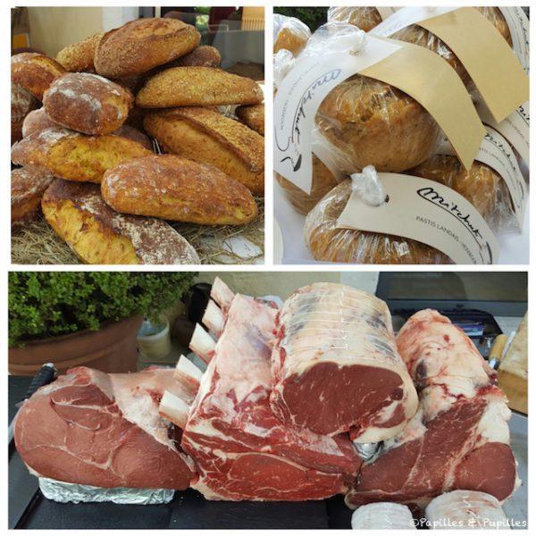 Pain au maïs et au piment d'Espelette de la maison Constanti, Pastis de chez Jean des Sables et viande de chez Marine et Greg