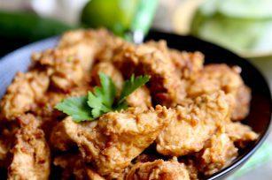 Dés de poulet satay