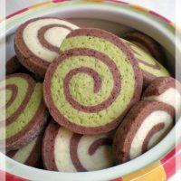 Sablés spirales matcha et chocolat
