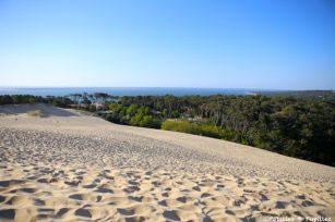 Vue depuis la dune du Pyla sur le bassin