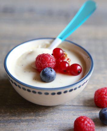 Panacotta à la vanille et aux fruits rouges