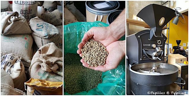 Sac de café - café vert - Machine à torréfier