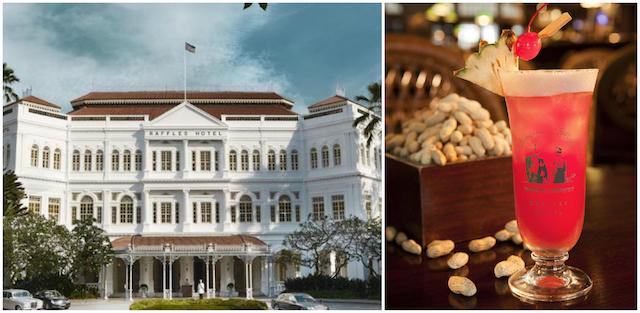 Boire un Singapore Sling à l'hôtel Raffles