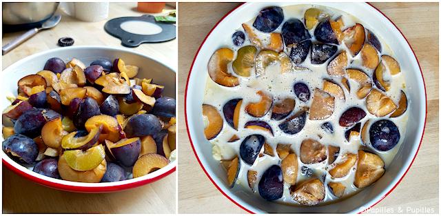 Clafoutis avant cuisson
