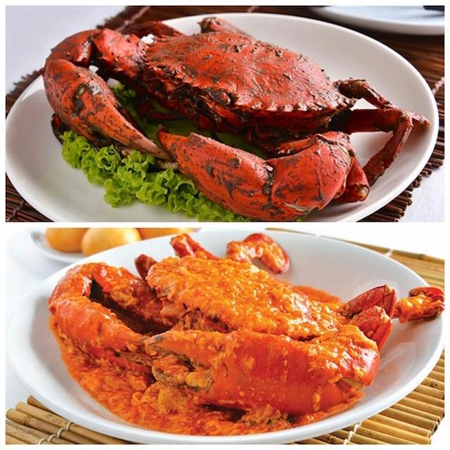 Crabe au poivre et crabe au piment
