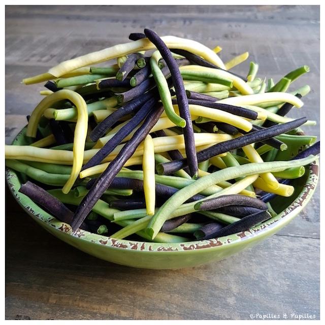 Haricots verts, beurres et noirs