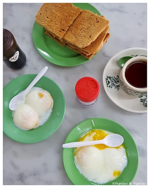 Kaya toasts - oeufs et sauce soja